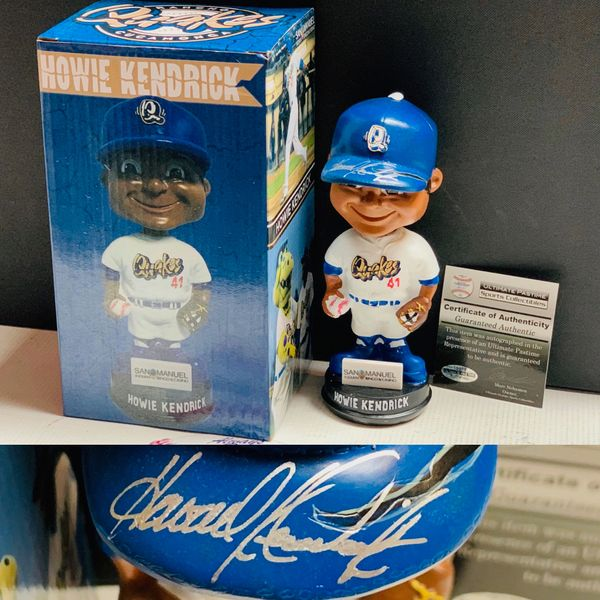 Deal of The Day (10/10/2019) - Howie Kendrick autographed Quakes Bobblehead UPSC authentic!