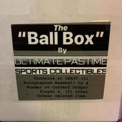 "The ""Ball Box"" - (Look for at Least 1 Autographed Baseball + 1 Other Item per Box) Pick-Up!"