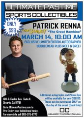 "Patrick Renna ""The Great Hambino"" Autographed Bobble Head and Photo Op!"