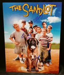 """The Sandlot"" 3 Cast Member Signed 11x14 (Movie Poster) - Squints, Timmy Timmons and Yeah Yeah"
