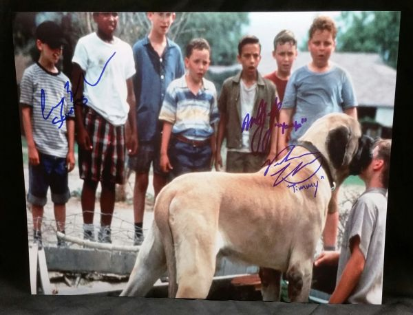 """The Sandlot"" 3 Cast Member Signed 11x14 (Screen Shot) - Squints, Timmy Timmons and Yeah Yeah"