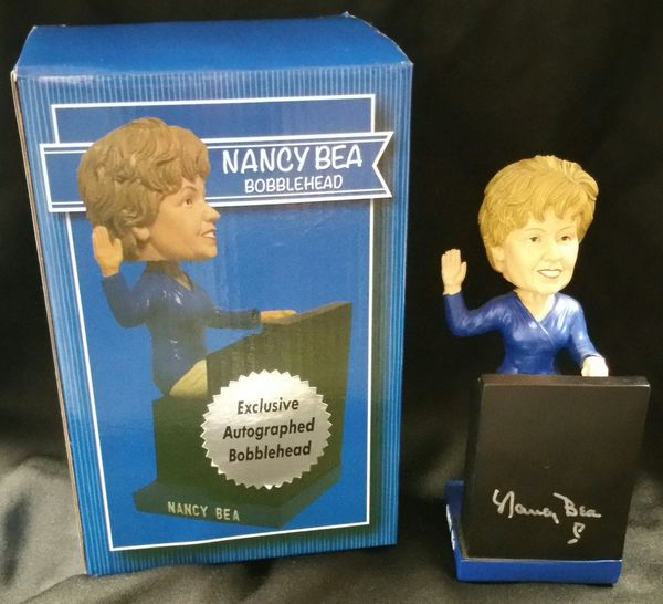 Nancy Bea - Ultimate Pastime Exclusive Autographed Bobble Head