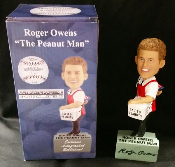"Roger Owens ""The Peanut Man"" - Ultimate Pastime Exclusive Autographed Bobble Head"