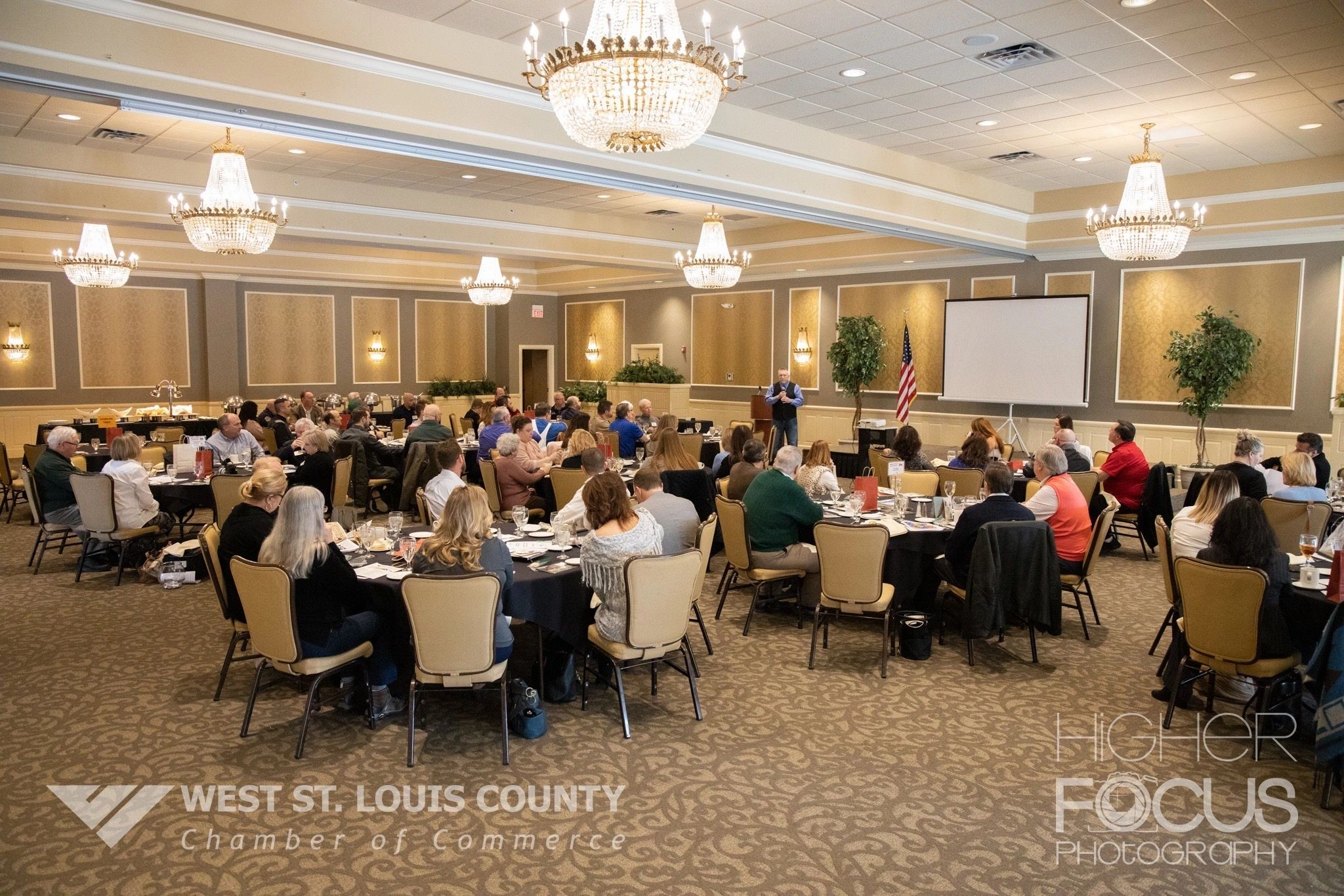 West St. Louis County Chamber of Commerce luncheon on 2/27/2020.