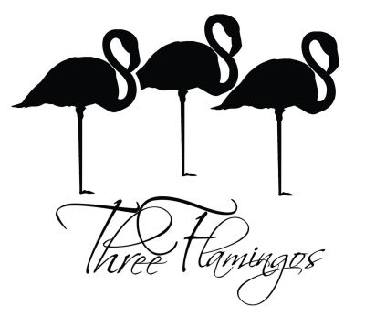 Three Flamingos