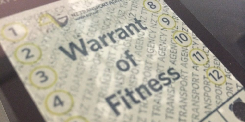NZTA Warrant of Fitness (WOF) label