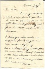 Early New England Ship Captain Told About Ship's Hatch; Freight Charges -- Two Letters