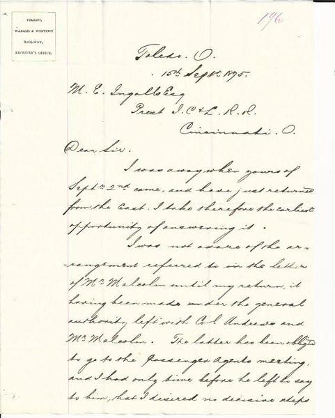 [Antietam, Scary Creek] Maj. Gen. Cox Probes Rail Distress