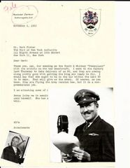 Daredevil Aviator Roscoe Turner Writes to Herbert Fisher of Beechcraft, King Air