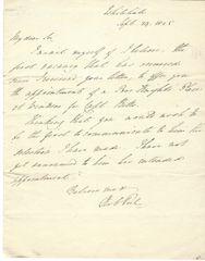 British Prime Minister Robert Peel Receives Memorial of Captain Betts -- Two Peel Signatures