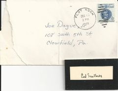 Pulitzer Prize-Winning Author, Poet Carl Sandburg -- His Autograph and Profile