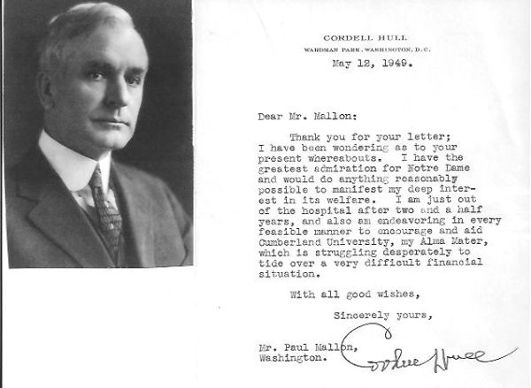 "Cordell Hull, Renowned for His Work with the U.N., Called ""Father of Nations"" by Roosevelt"