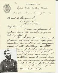 George Washington Getty Provides Information about Solider, West Point Graduate