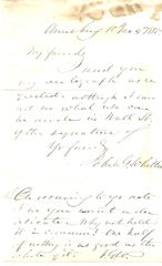 Staunch New England Abolitionist John Greenleaf Whittier Sends Two Signatures, Humorous Sentiment