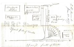 Railroad Draughtsman's Letter Includes Chillicothe, Ohio, Machine Shop Layout