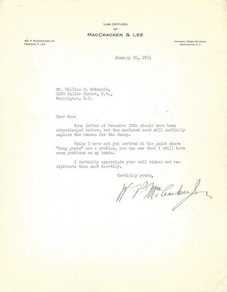 Pioneer Aviator William MacCracken Spent 10 Days in Jail; Historic Contempt of Congress