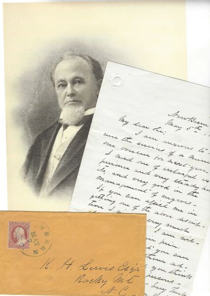 Judge Bryan Seeks Overseer from Slave Owner in Rocky Mountain, NC, on Eve of Civil War