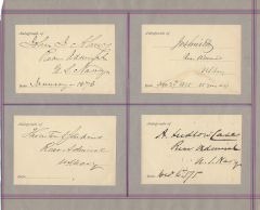 Autographs: Admiral, Commodores, Generals -- Gettysburg, Lake Champlain, Civil War, Mexican American War
