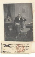 Early American Author J. Fenimore Cooper Signs Check; Father Founded Cooperstown, New York