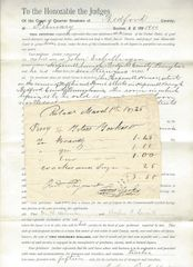 Nice Set of Early Liquor Documents; PA Red Lion Inn, Temperance Tavern, Wine, Gin, Brandy