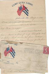 Spanish-American War Soldier Camp Cuba Libre; Very Fine Florida Postmark
