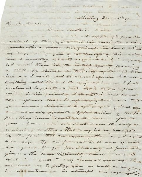 13 Letters: Artemas Ward Great Grandson; Early Postal Markings; Presbyterian Church