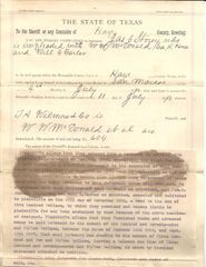 2 Early Texans Sign Writ of Attachment, Cowboy-Lawman Jackman and Future Confederate James Storey