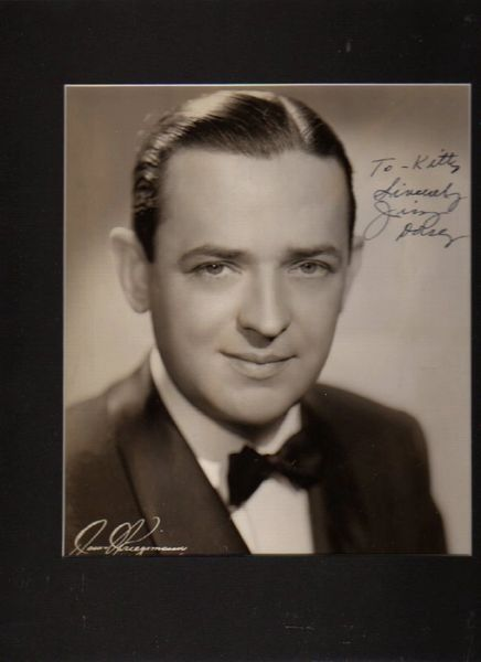 Big Band Leader Jimmy Dorsey Inscribed, Autographed Photograph