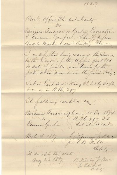 South Carolina Confederate Charles Kerrison, Wounded Twice At Gettysburg, Captured, Signs Legal Document Twice