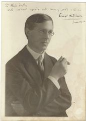 Pianist, Composer, President of Julliard Hutcheson Inscribed Photograph
