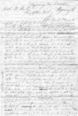 7th Infantry Civil War POW D.P. Hancock Appeals To Secretary of War Stanton For Release; Fought In Mormon War, Gettysburg