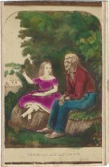 Rhode Island Woman Photographer Creates CDV Of Uncle Tom's Cabin Characters Tom And Little Eva