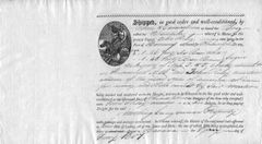 Bill Of Lading For New Hampshire Brig. Tarantula Seized By Napoleon's Privateer Under Milan Decree In 1808