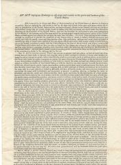War of 1812 Historic 1813 Embargo Approved By President Madison And Signed By Acting Treasury Secretary William Jones