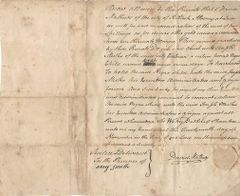 New York British Loyalist, Last Colonial Mayor David Mathews Charged In Plot To Kidnap And Kill Gen. George Washington, Arrested, Escaped -- Writes Legal Document For Exchange Of Slave Baby