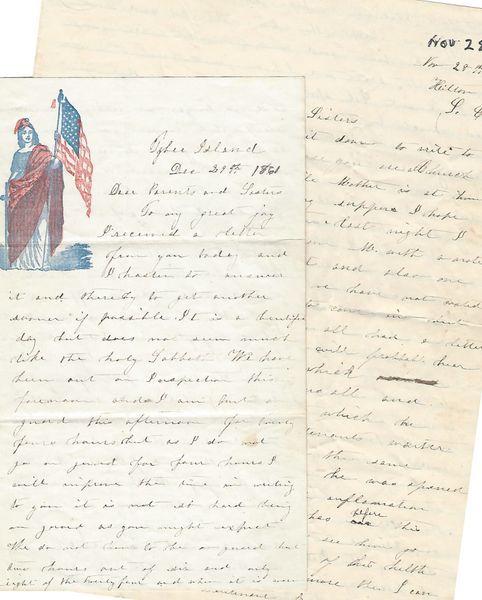 CT 7th Civil War Soldier Writes Of Fremont Removal, North Driving The Rebels -- Two Letters