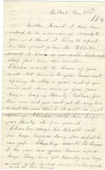 Bethel, Vermont Home Front Civil War Letter Speaks of Hiring Substitutes, Blacks Feel Short War If Lincoln Re-elected