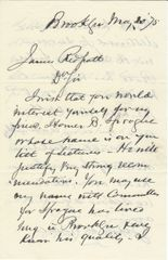 Abolitionist Henry Ward Beecher Recommends Anti-Slavery Activist Sprague For Lyceum Bureau