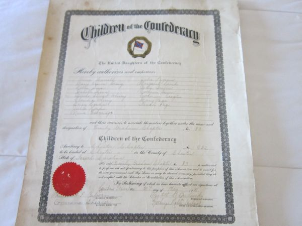 Children Of The Confederacy Induct 16 Chester County, South Carolina Members