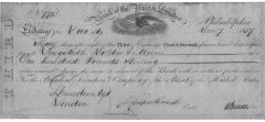 Nicholas Biddle Signs 1837 Third Bank Of The United States Pay Order, Writes Of Best Thinkers