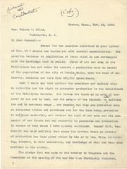 [Spanish-American War] George Boutwell Urges Gen. Nelson To Reject McKinley's Imperialistic Philippine Policies