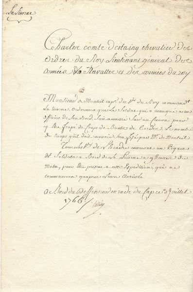 French General D'Estaing Orders Flogging Of Impertinent Soldier In 1766
