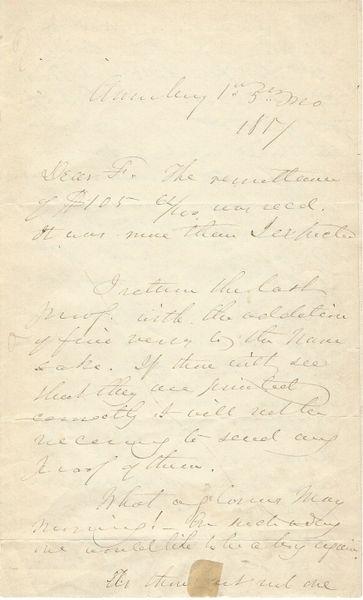"Quaker-Abolitionist John Greenleaf Whittier Seeks Help For His Pupil Joshua Coffin -- ""My Old School Master"""