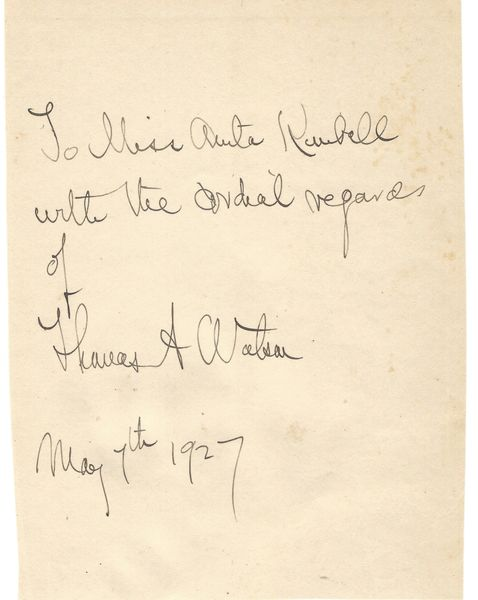 Alexander Graham Bell Assistant Thomas Watson Assemblage Of Note And Photographs Of Early Telephone Invention