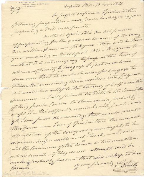 Revolutionary War Hero Samuel Smith Believes Navy Budget Should Be reduced
