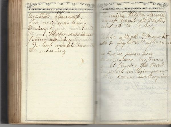 """1864 Civil War Diary: Gen. Forrest's Arrival – """"Negroes Are Lighting Out"""" --, 19 Votes For Lincoln, His Capture By John Bell Hood's Forces"""