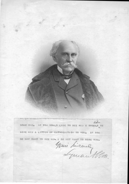 Abolitionist Lyman Abbott Worked With Henry Ward Beecher; Offers Letter Of Introduction