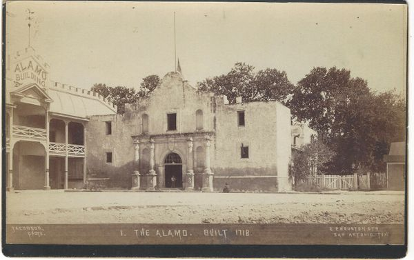 Handsome Cabinet Card Of The Alamo, Photographed By M.E. Jacobson, With History
