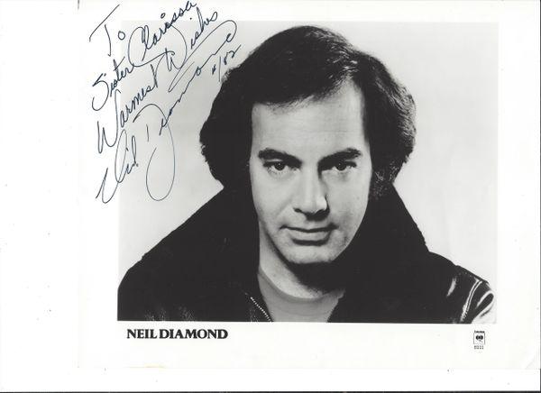 Singer-Songwriter Neil Diamond Inscribes Photograph
