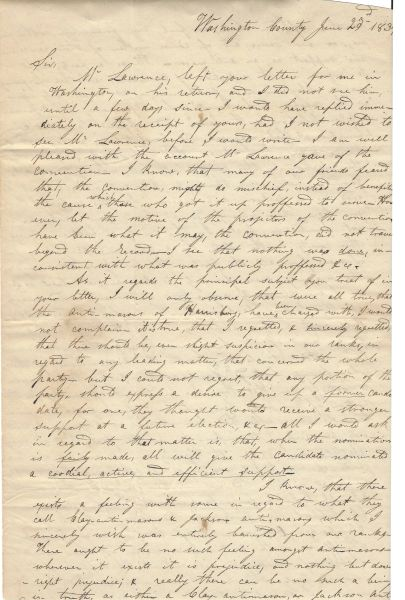 PA Gov. Ritner Extols The War Of 1812 Performance Of Gen. William Henry Harrison